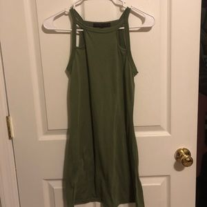 Dresses & Skirts - Olive green cotton dress